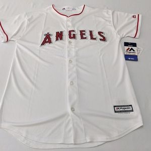 MLB LA Angels of Anaheim White Youth Majestic Cool